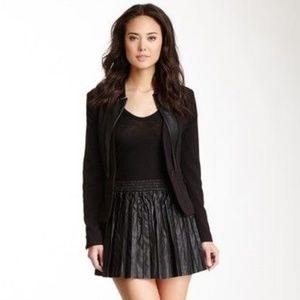 NWT! Walter Baker Pleated Faux Leather Skirt
